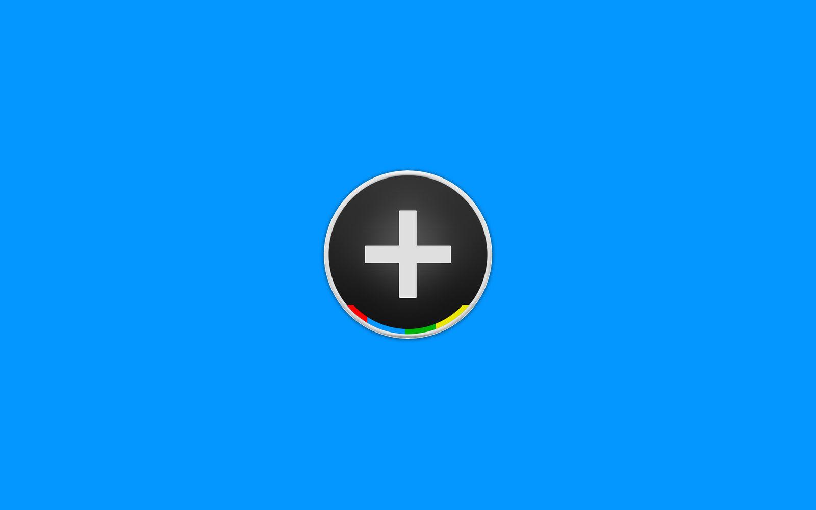 Google+ Plus Blue Wallpaper