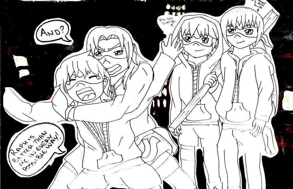 Brotherly Love - TMNT Gijinka by AnimeInMyPocket