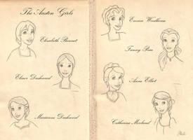 The Austen Girls by lily-azalea