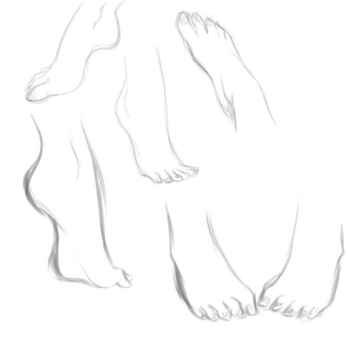 Foot study by rika-dono