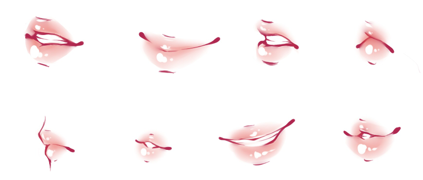 Lips Refs by rika-dono on DeviantArt  How To Draw An Anime Smile