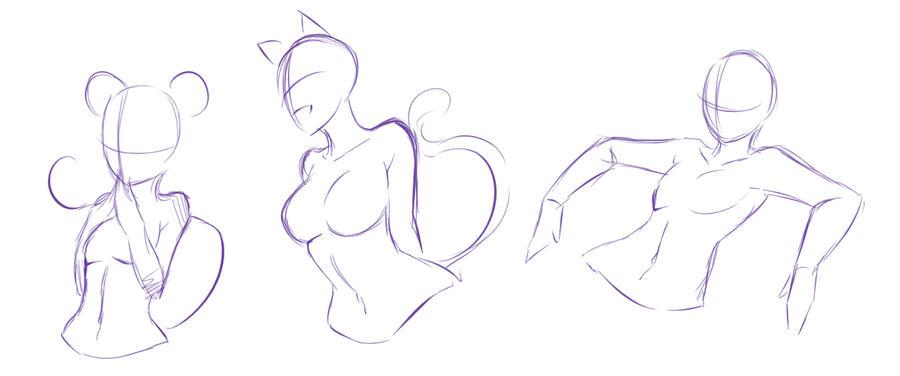Random poses ... XD by rika-dono