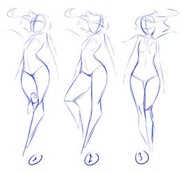 Poses by rika-dono