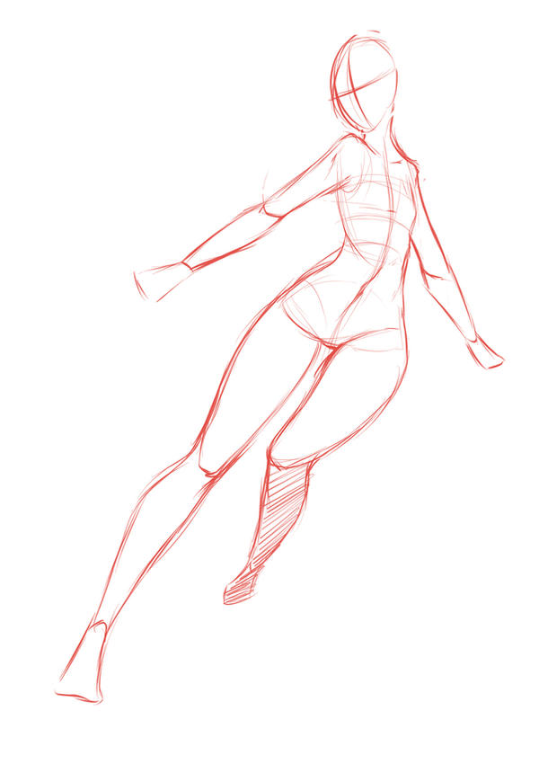 how to draw a female body from behind