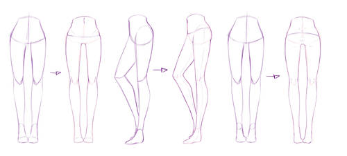 Legs Refs by rika-dono