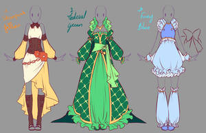Outfits adopts 3 - Paypal Auction CLOSED by rika-dono