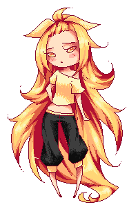 Yellow Spiky-Hair by rika-dono