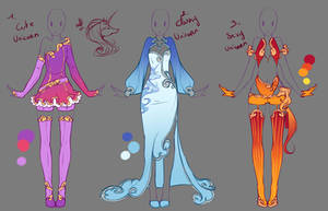 Outfits adopts 6 - Paypal Auction - CLOSED by rika-dono