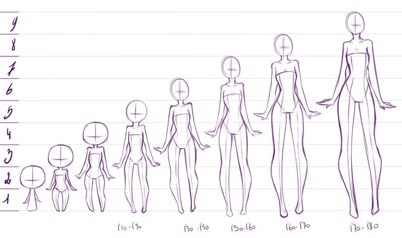 Аниме схема тела для девушек