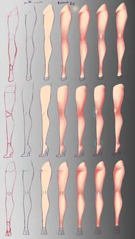 How I paint - Legs