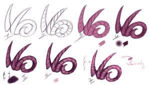 How I paint - Horns