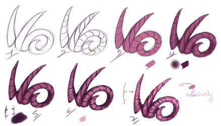 How I paint - Horns by rika-dono