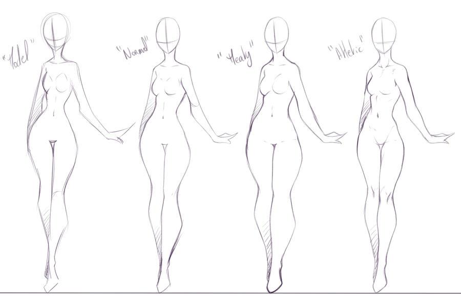 Some Body Forms I Like To Draw By Rika Dono
