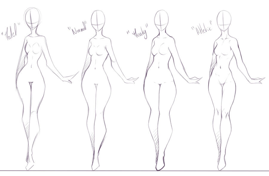 Some Body Forms I Like To Draw