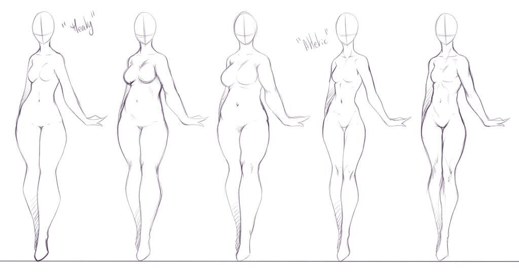 Some Body Forms I Like To Draw 2 By Rika Dono