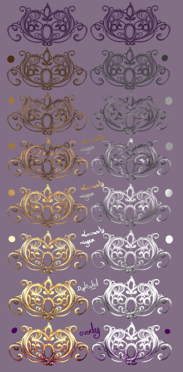 How I paint Jewelry GoldnSilver by rikadono on DeviantArt