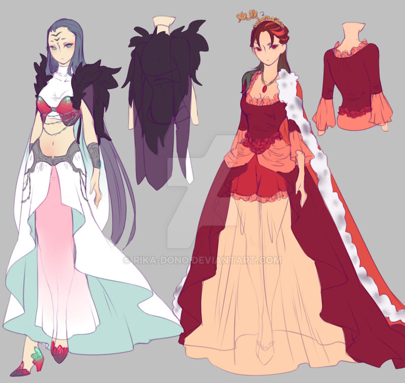 0 drawing contest 2nd place prize designs by rika - Fashion manga ...