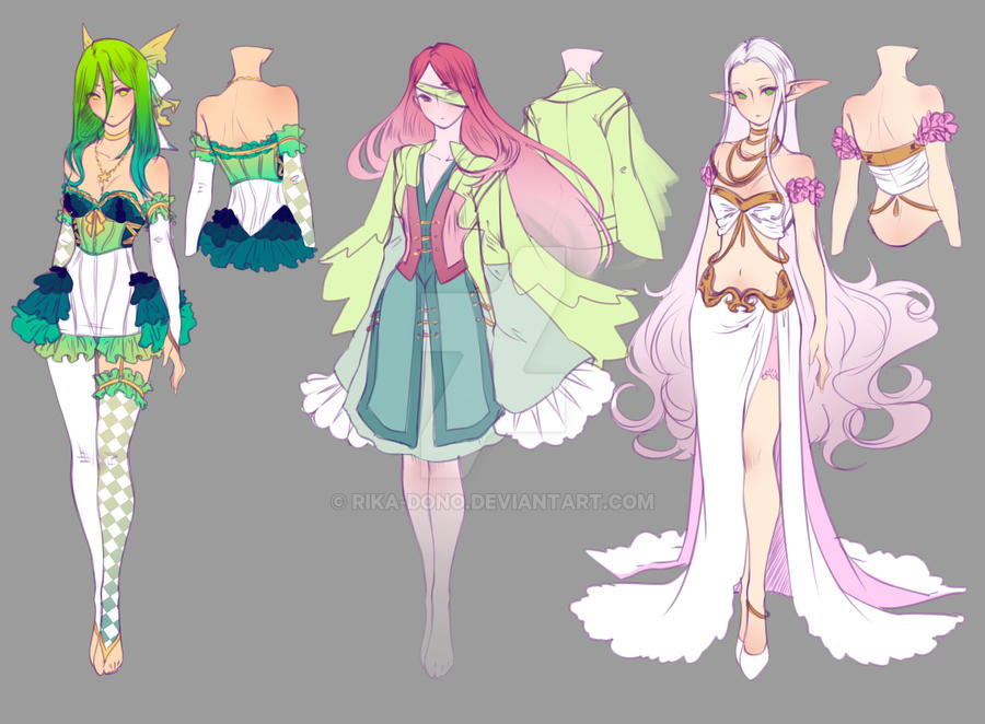 Anime Character Design Competition : Drawing contest st place prize designs by rika