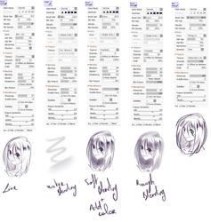 My Sai2 Main Brushes by rika-dono