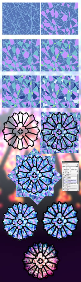 Stained Glass Texture Step By Step