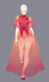 Fashion Illustration Serie 1 - Red Spider Lily