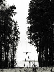 Power pole, winter pole