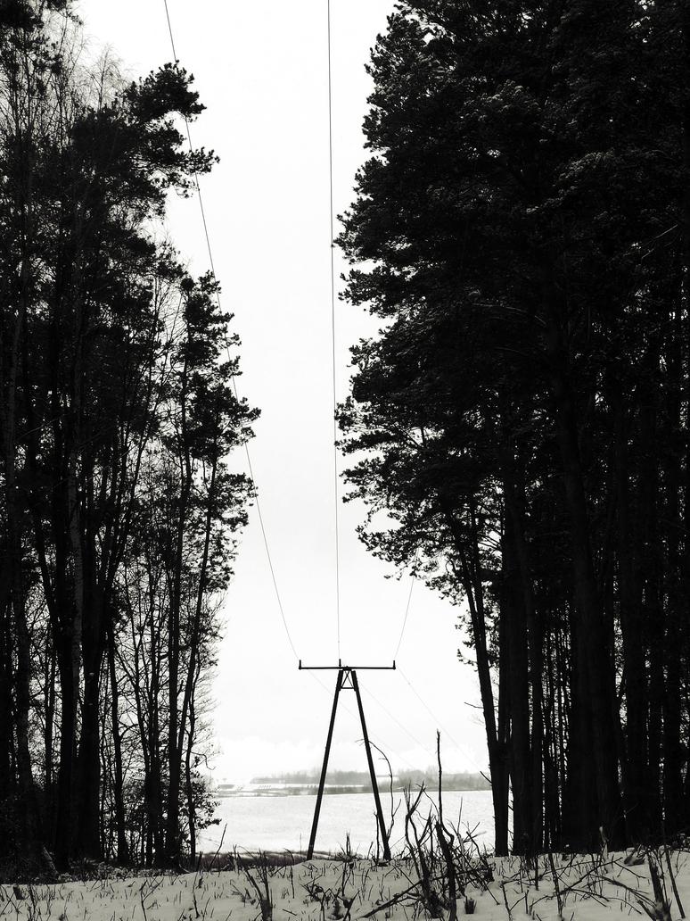 Power pole, winter pole by l24d