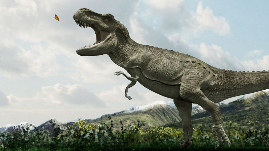 Image result for trex and a butterfly