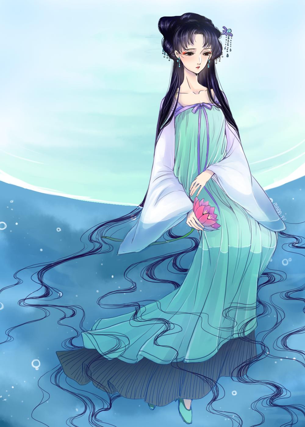 Lotus: Overlooking the Water by Marri-Yu