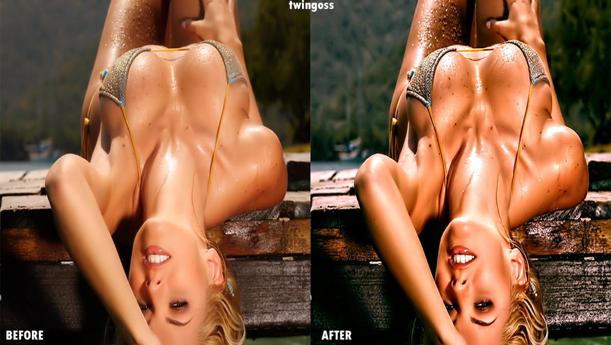 Marjorie before and after HD by twingoss