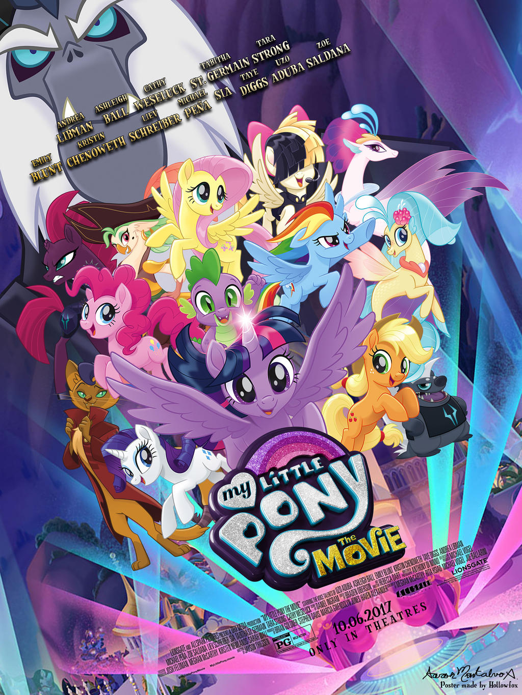 fanmade my little pony the movie poster by aaronmon97