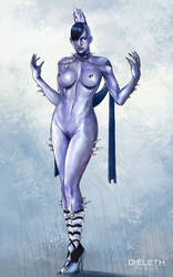 Killer Frost -Nude by Dieleth