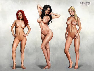 Kira, Lydia and Sarah -Nude by Dieleth