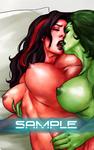 She-Hulk and Red She-Hulk -Sample by Dieleth