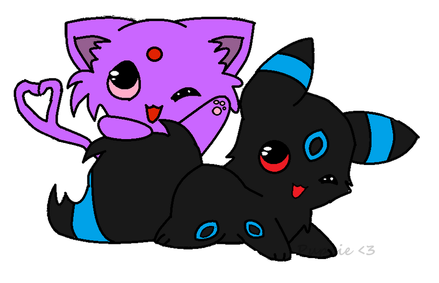 chibi umbreon and espeon by skatergirlonlineEspeon And Umbreon Chibi