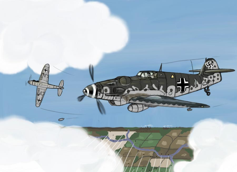 Bf 109 study by Medjugore