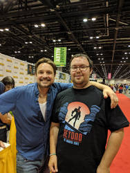 Sharing a Laugh with Will Friedle. by Kaiju-Brawler911