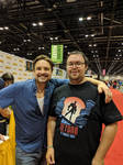 Sharing a Laugh with Will Friedle.