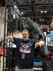 Sharing a Roar with Godzilla. by Kaiju-Brawler911