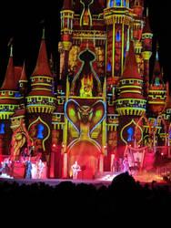 Jafar in Front of Cinderella's Castle. by Kaiju-Brawler911