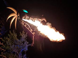 Maleficent Dragon Breathing Fire. by Kaiju-Brawler911