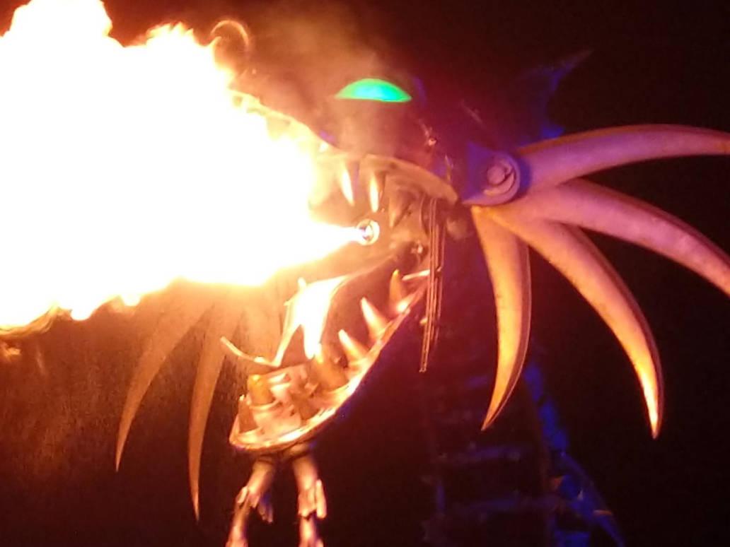 Maleficent Dragon Breathing Fire 2. by Kaiju-Brawler911