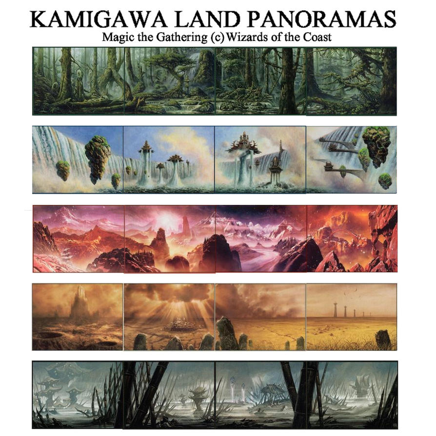 Kamigawa Land Panoramas by Irotciv