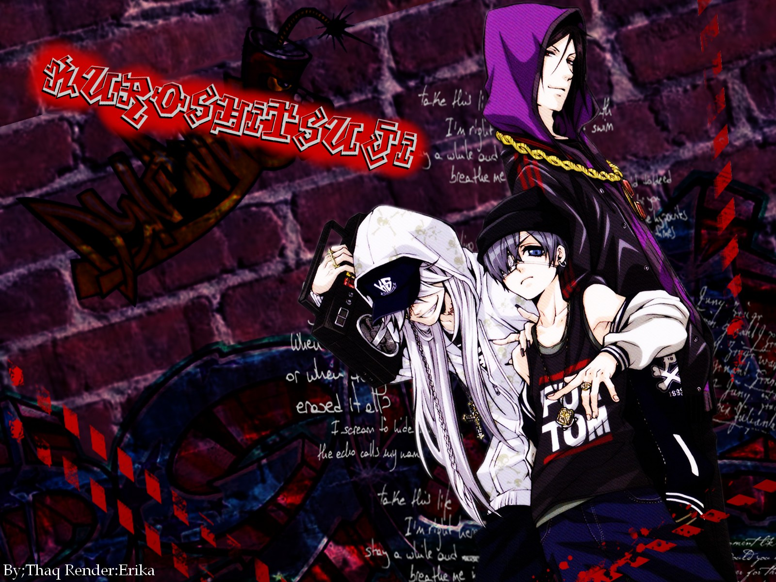 kuroshitsuji wallpaper-hip hoppookiemania on deviantart