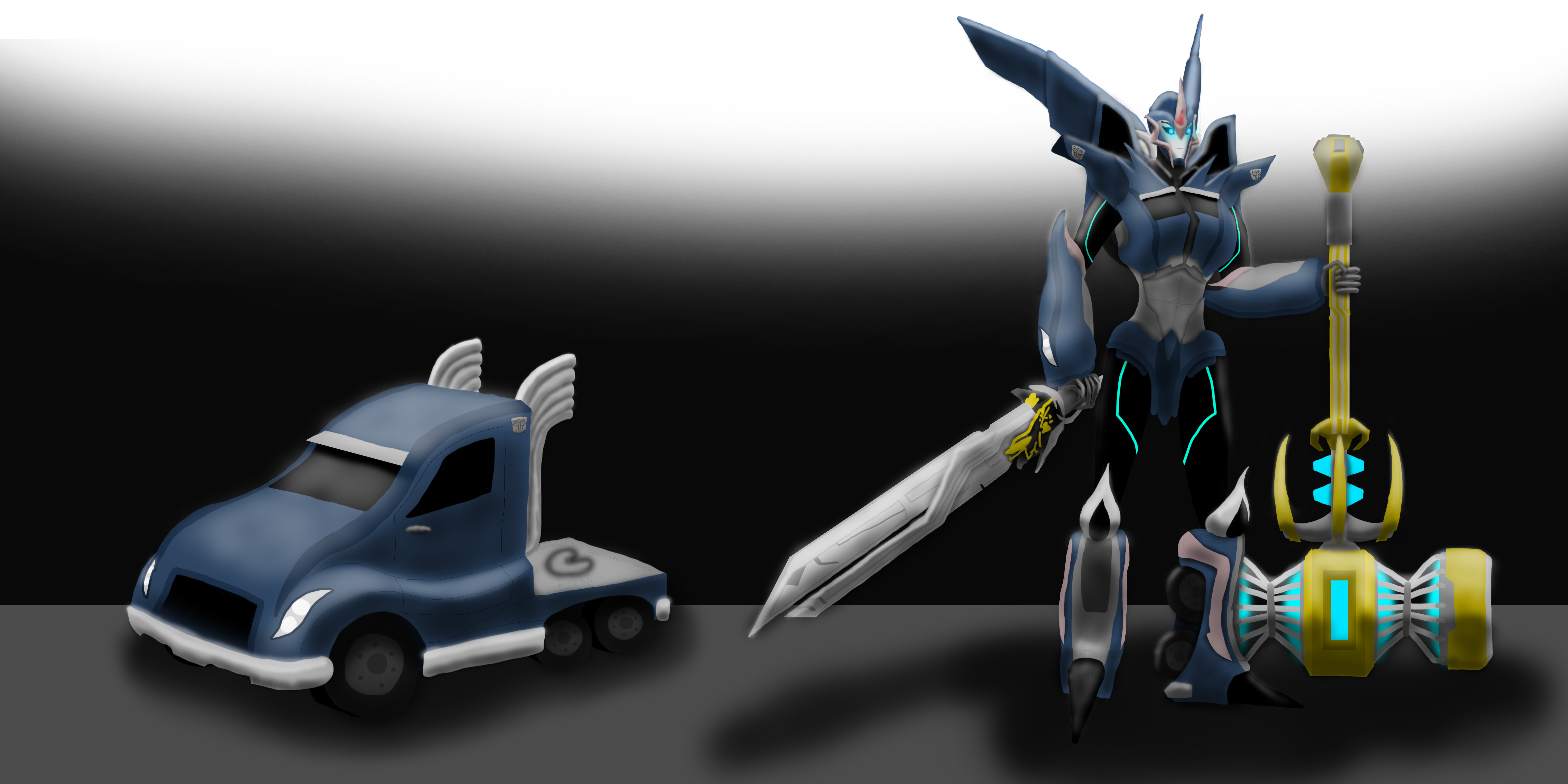 Arcee as a Prime by Playstation-Jedi