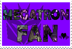 Megatron fan-made stamp by Playstation-Jedi