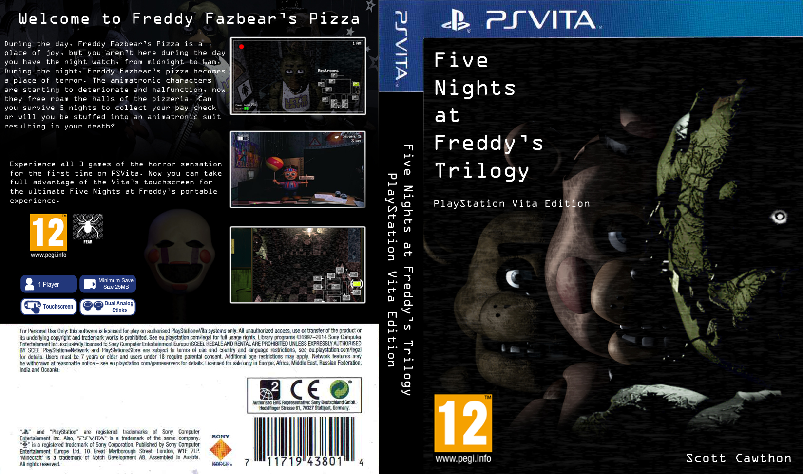 13 fan made fnaf trilogy psvita cover by playstation jedi watch art
