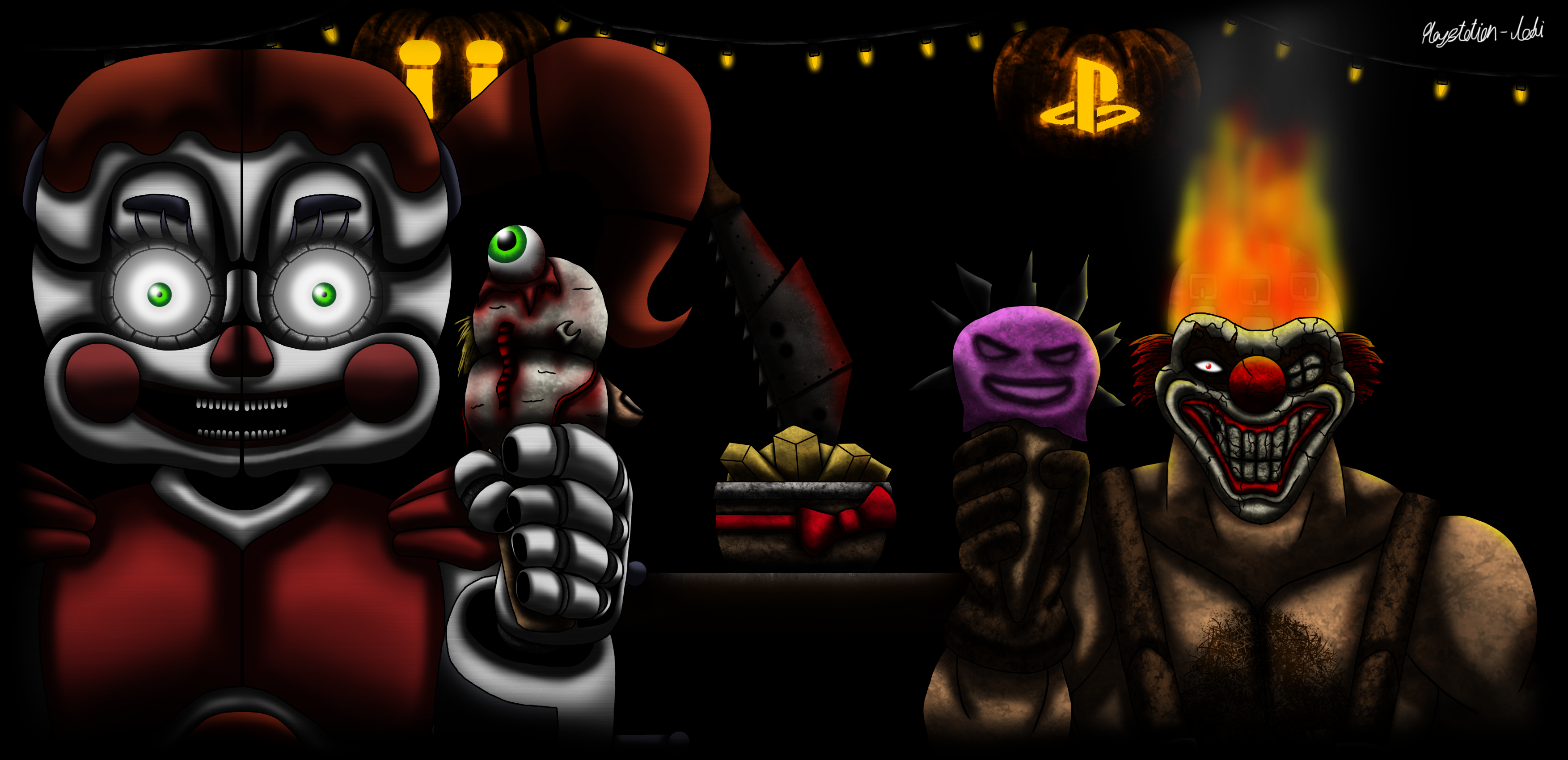 FNaF and PlayStation Ice Cream Halloween Party by Playstation-Jedi ...