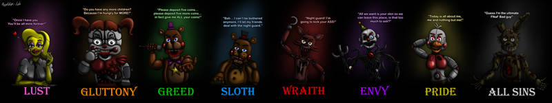 Seven Deadly Sins of FNaF by Playstation-Jedi