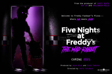 FNaF: The Mad Rabbit Fan-Made movie poster by Playstation-Jedi